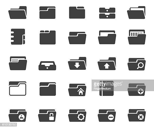 フォルダ)アイコンを設定します - インデックスカード点のイラスト素材/クリップアート素材/マンガ素材/アイコン素材