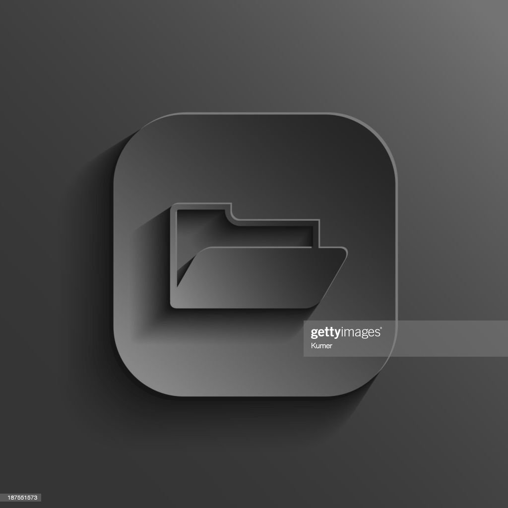 Folder icon - vector black app button