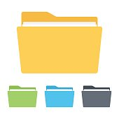 Folder icon , Vector illustration