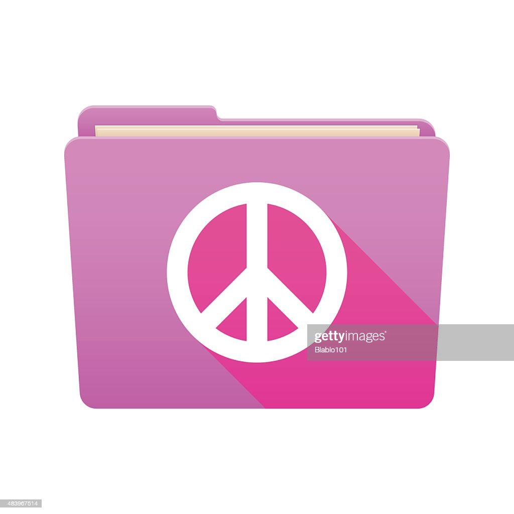 Folder icon with a peace sign