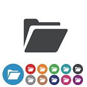 Folder Icons Set - Graphic Icon Series