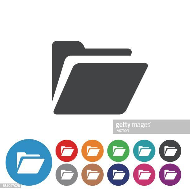 folder icons set - graphic icon series - files stock illustrations, clip art, cartoons, & icons