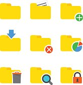 Folder icons set.