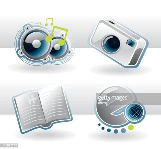stockillustraties, clipart, cartoons en iconen met folder ikonz - e mail