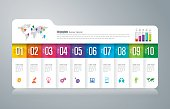 Folder infographics design vector and business icons.