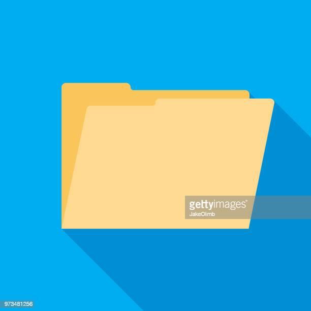 folder open icon flat - fileira stock illustrations