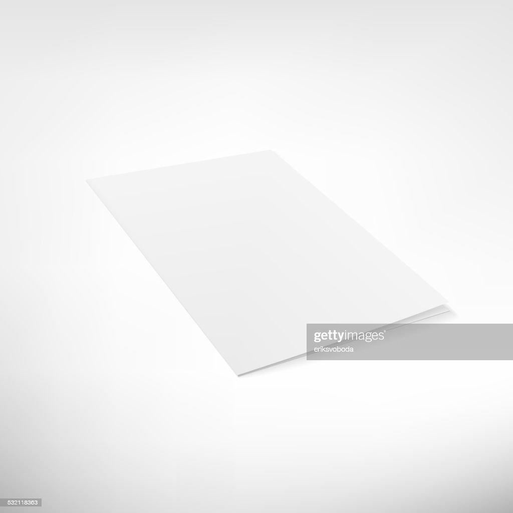 Folder page on white background.