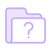 folder question mark colour line vector icon