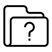 folder question mark Thin Line Vector Icon