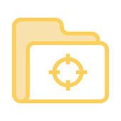 folder target colour line vector icon