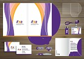 Folder Template design for digital technology company. Element of stationery, people community friends presentation design used for business or working promotion, Blue, Red,