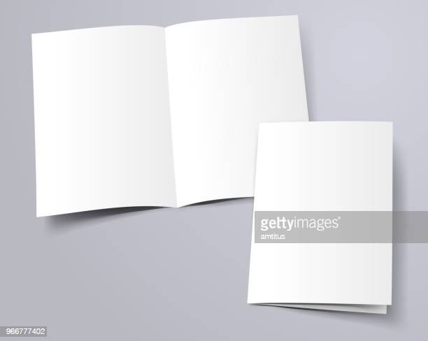 folder template - printout stock illustrations