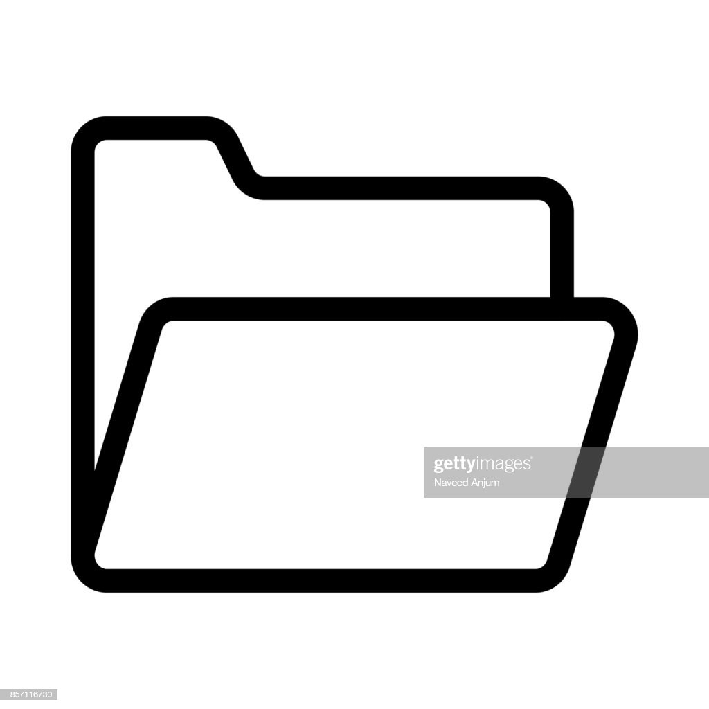 folder Thin Line Vector Icon