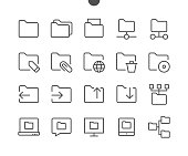 Folder UI Pixel Perfect Well-crafted Vector Thin Line Icons 48x48 Ready for 24x24 Grid for Web Graphics and Apps with Editable Stroke. Simple Minimal Pictogram