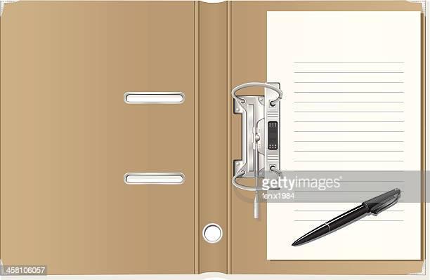 folder - desk organizer stock illustrations, clip art, cartoons, & icons