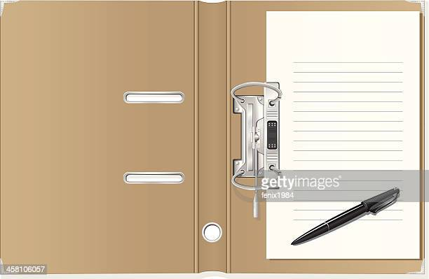 folder - card file stock illustrations, clip art, cartoons, & icons