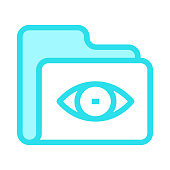 folder view colour line vector icon