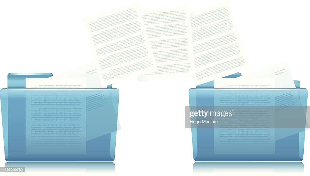 Folders and Files Copying : stock illustration