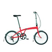 Folding bike isolated on white. Compact bicycle icon.