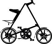 Folding bike silhouette