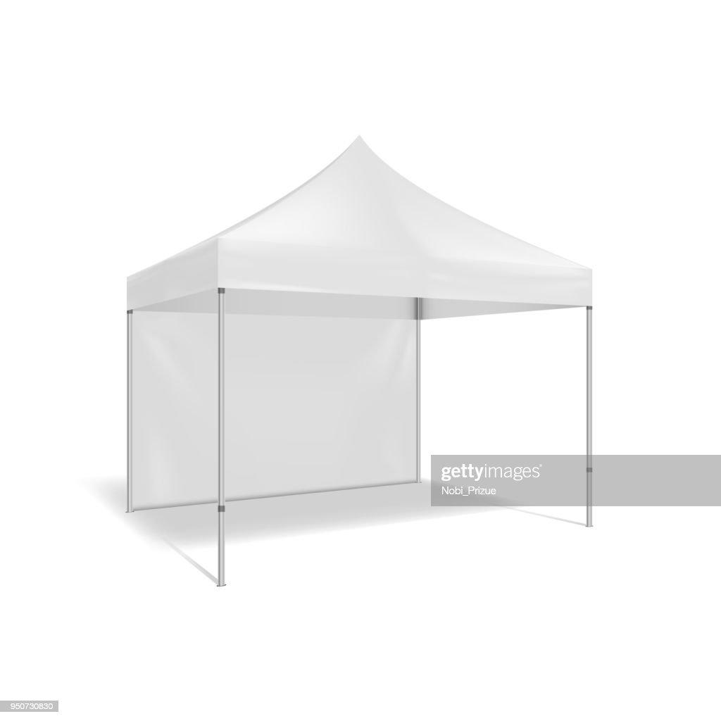Folding tent. Illustration isolated on white background