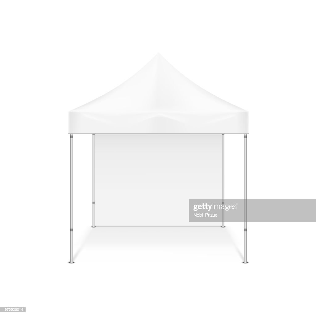 Folding tent. Illustration isolated on white background