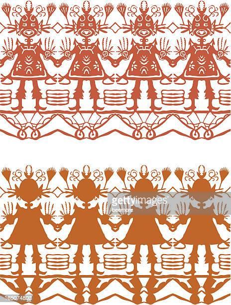 フォーク舞踊 - アラスカ文化点のイラスト素材/クリップアート素材/マンガ素材/アイコン素材