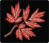 Folk Leaf  ( Vector )