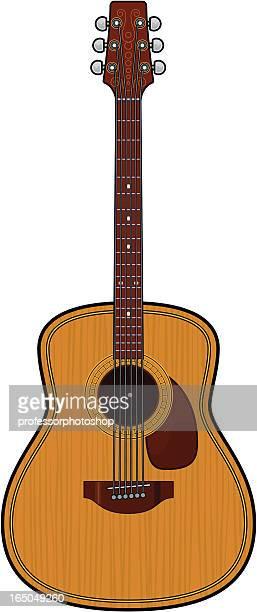 folk or classical guitar - acoustic guitar stock illustrations