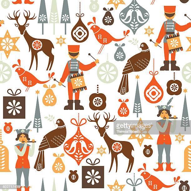 Folklore Christmas Pattern