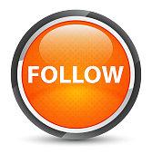 Follow galaxy orange round button