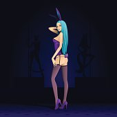 Follow the blue rabbit