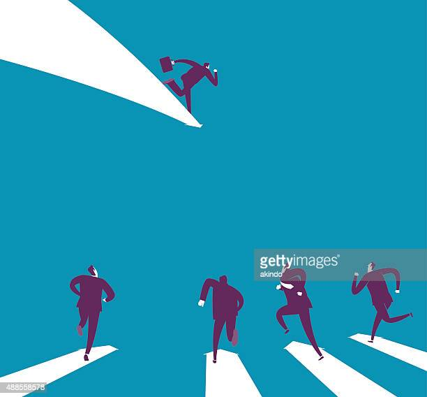 follow the leader - competitive sport stock illustrations, clip art, cartoons, & icons