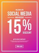 Follow Us On Social Media Sign Poster