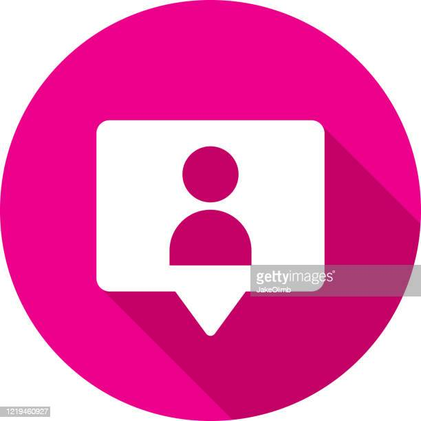 follower speech bubble icon silhouette - following stock illustrations