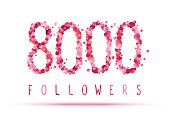 8000 (eight thousand) followers