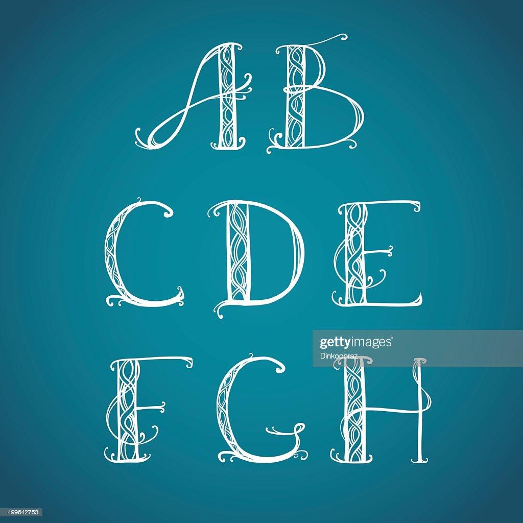 Font Art Nouveau, Art Deco
