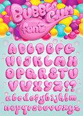 Font Bubble gum