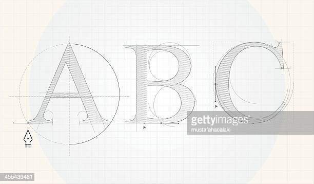 font designing - letter a stock illustrations