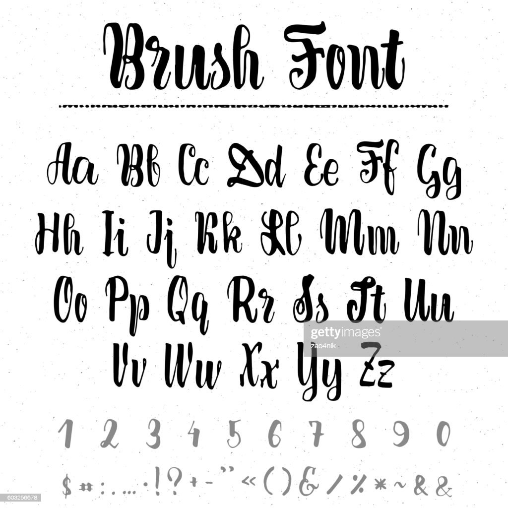 Font Merry Christmas - handwriting brush. It can be used
