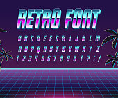 Font style 80's.