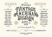 Font Vintage American Design