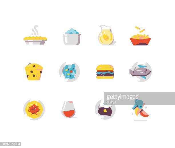 Food 2 - prepared food flat icons
