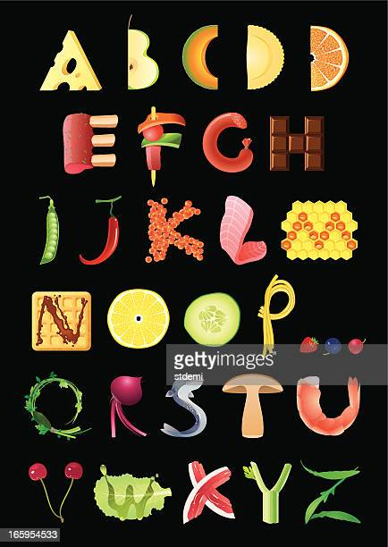 food alphabet - pejft 幅插畫檔、美工圖案、卡通及圖標