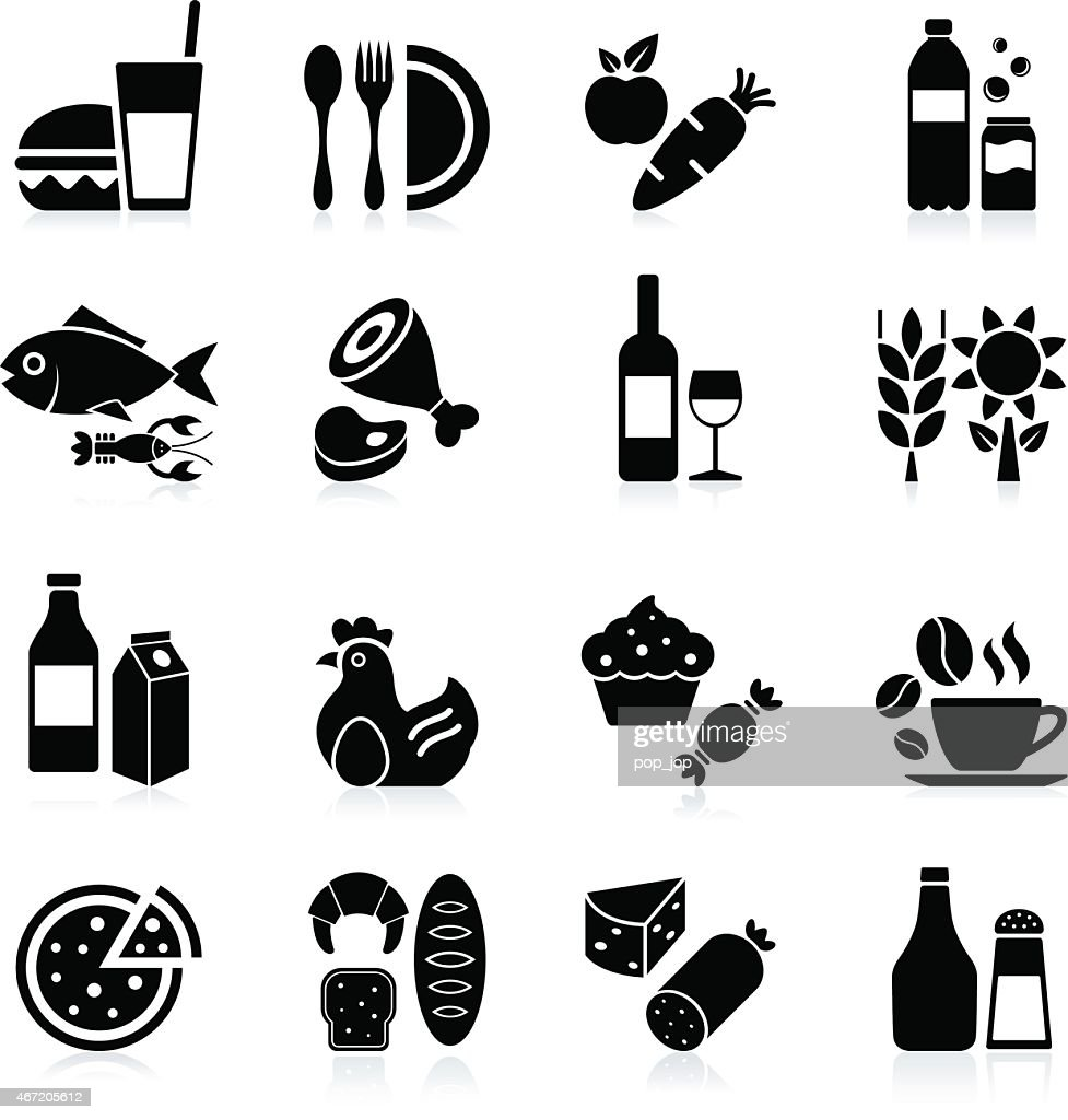 Food and Beverages - icon set