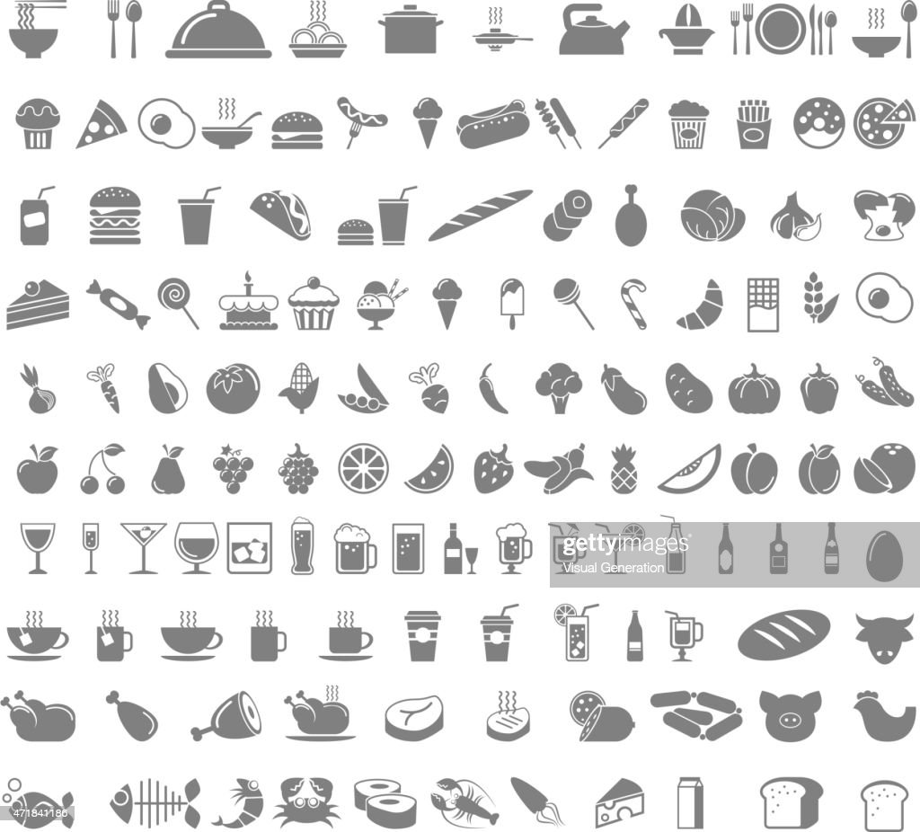 Food and beverages icons