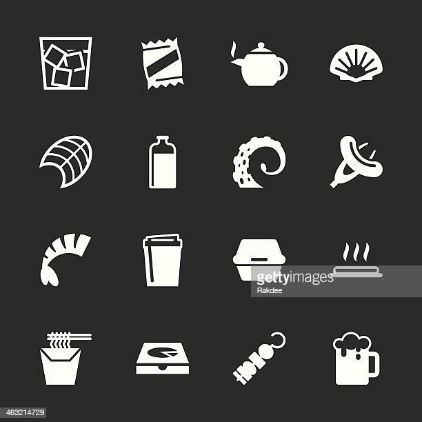 Food and Drink Icons Set 4 - White Series