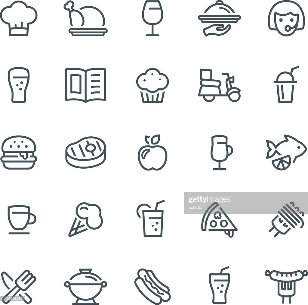 Food and Drink Icons : stock illustration