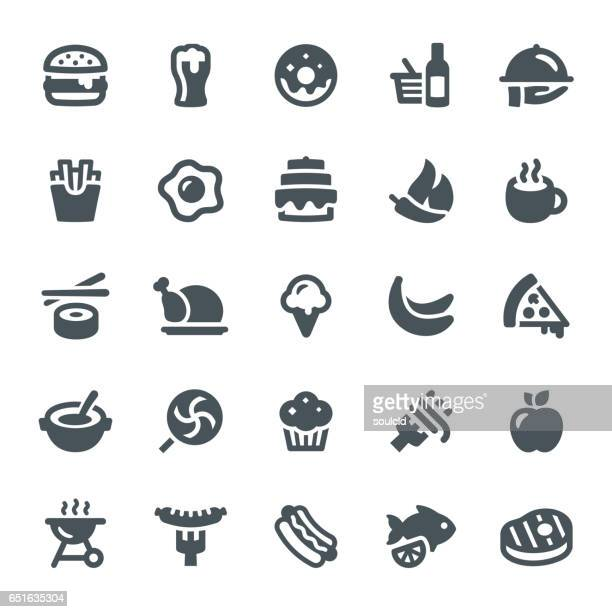 food and drink icons - french fries stock illustrations, clip art, cartoons, & icons