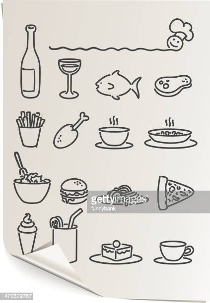 food and drink papers - macaroni stock illustrations, clip art, cartoons, & icons